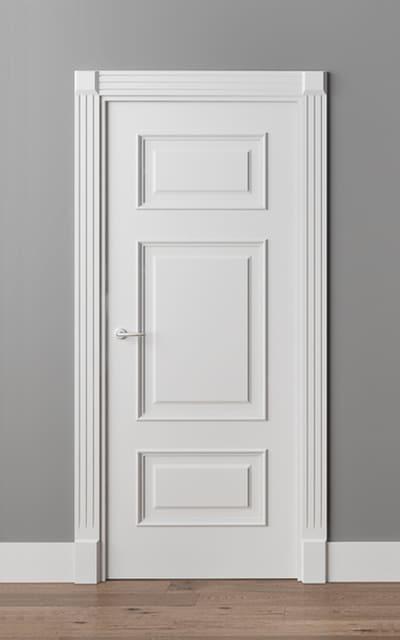 Модні білі глухі авторські міжкімнатні двері