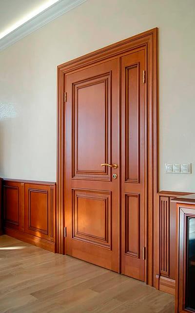 Купити авторські двері міжкімнатні двополі коричневі