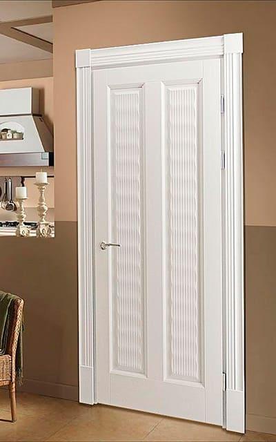 Глухі ексклюзивні авторські двері білого кольору