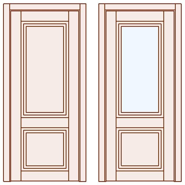 Стильні двері Grace 2019 глухі скло