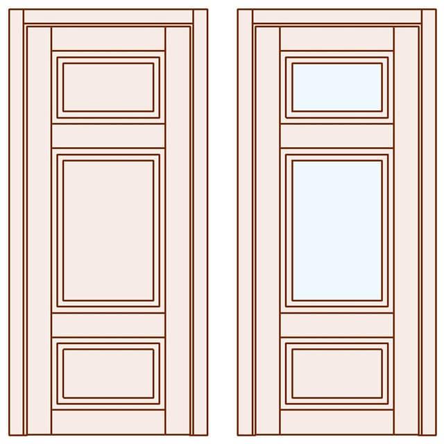 Міжкімнатні двері зі склом Grace фото