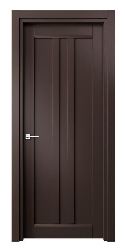 Глухі елегантні темно коричневі міжкімнатні двері «Matrix»