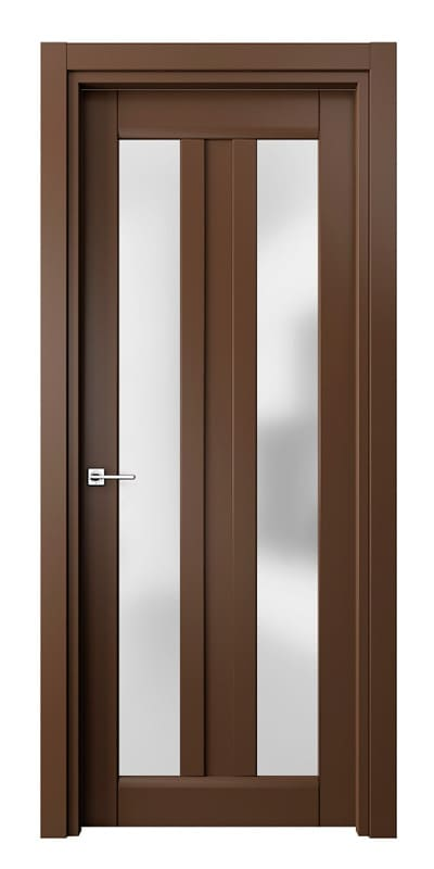 Коричневі міжкімнатні двері з вертикальним склом «Matrix» фото