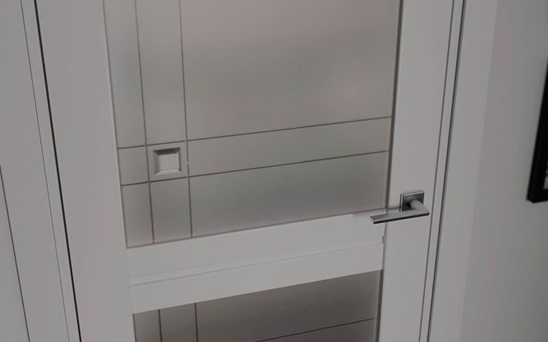 Білі міжкімнатні двері Matrix зі слом