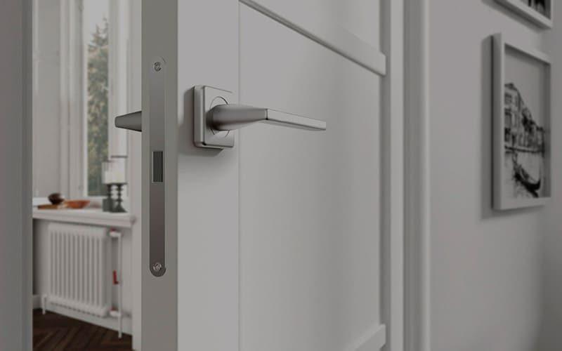 Білі міжкімнатні двері Matrix глухі
