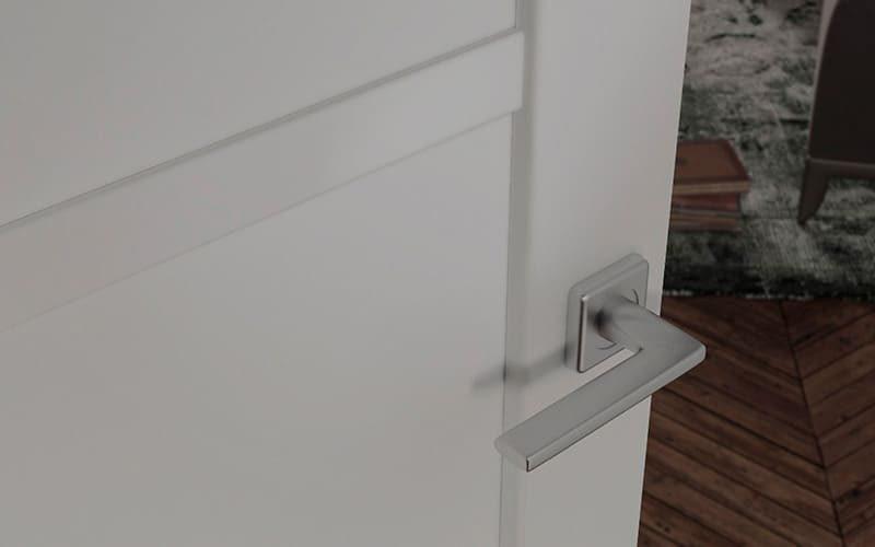 Елегантні білі глухі міжкімнатні двері стиль Matrix